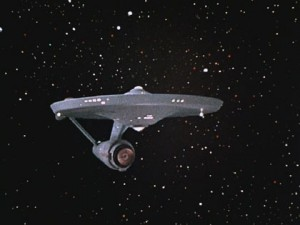 """I like to imagine the words to the theme song are """"Star Trek, ooh ooh ooh ooh."""""""