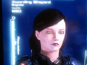 Sorry about the picture quality, but Commander Zwordling Shepard doesn't have time for your fancy picture takin' rituals.