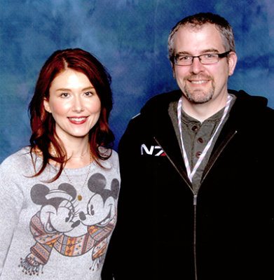 Jewel Staite & I starring this fall in Awkward Yearbook Photo